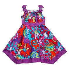Toddler Floral Pattern Print Sundress - Youngland