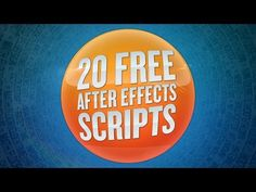 20 Free After Effects Scripts - YouTube