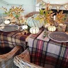 Plaid tablescape ideas- #thanksgivingideas 24cottonwoodlane.com