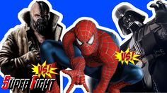 The Amazing Blue Spiderman and Spiderman vs Bane vs Darth Vader - Star W...
