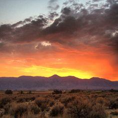 Sunset in Carson Valley! Breathtaking!