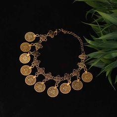 Chica Fashion Jewellery By Fizz : Oxidized Gold Coin Bracelet