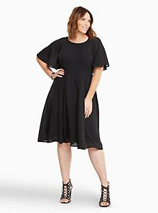 Georgette Lace Up Back Midi Dress