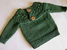 sweater abrigo  lana  baby boutique - tejidos bebe niños