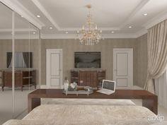Дизайн спальни в частном доме от Kucherenko Design, Симферополь, Крым: интерьер, зd визуализация, квартира, дом, спальня, неоклассицизм, 30 - 50 м2, интерьер #interiordesign #3dvisualization #apartment #house #bedroom #dormitory #bedchamber #dorm #roost #neoclassicism #30_50m2 #interior