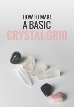 MDL Healing Solutions: How to make a basic crystal grid. Crystals Minerals, Rocks And Minerals, Crystals And Gemstones, Stones And Crystals, Gem Stones, How To Make Crystals, Wicca Crystals, Chakra Crystals, Crystal Magic