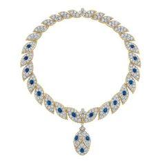 Two-Color Gold, Diamond and Sapphire Pendant-Necklace, Buccellati