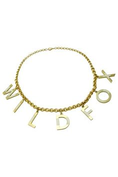 Wildfox Couture Jewelry  Wildfox Letter Charm Necklace  $41.88