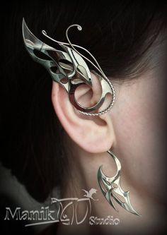 Butterfly wings Cuffs jewelry Flight of fantasy Jewelry Cuff Jewelry, Cuff Earrings, Jewelry Accessories, Women Jewelry, Jewellery, Fake Piercing, Ear Piercings, Types Of Gemstones, Simple Bracelets