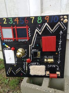 Toddler busy board by KraftyKaleidoscope on Etsy
