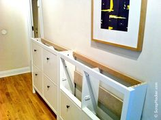 Remove the tops of the HEMNES Cabinets