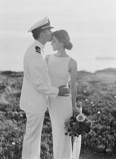 #black-and-white, #romantic  Photography: Em the Gem - emthegem.com Wedding Dress: Alice + Olivia  - aliceandolivia.com