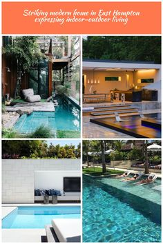 awesome use of a small backyard with creating this splash pool Modern pool