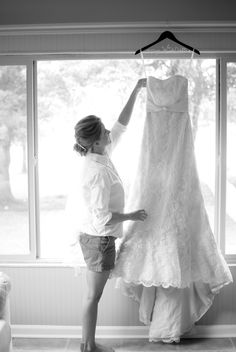 Me on our special day! Getting Ready Wedding Photo By Johanna Lakin Photography