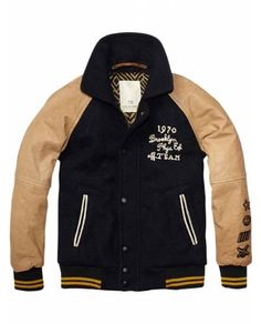 College Jacket With Leather Sleeves > Kids Clothing > Boys > Jackets at Scotch Shrunk - Official Scotch & Soda Online Fashion & Apparel Shops