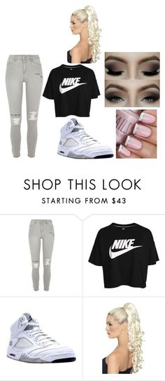 girly and sporty by d-baby23 on Polyvore featuring NIKE and River Island