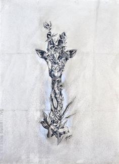 ORIGINAL ARTWORK Giraffe by mariniferlazzo on Etsy