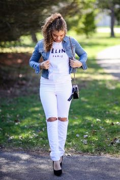 white jeans for spring| spring outfit | fashion blog | outfit ideas | fashion blogger | style