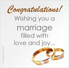 Wedding Congratulations Best Wishes Wedding Wishes Congratulations Dbgreetings Com Congratulations Quotes Wedding Wishes Quotes Getting Married Quotes