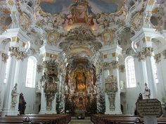 Basilica of Ottobeuren, Baroque Interior Ottobeuren, Bavaria maxresdefault. Cathedral Architecture, Sacred Architecture, Interior Architecture, Baroque Painting, Baroque Art, Cathedral Church, Rococo Style, Bavaria Germany, Place Of Worship