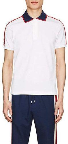 ba9497e691a Gucci Men s Logo-Detailed Cotton Piqué Polo Shirt - White