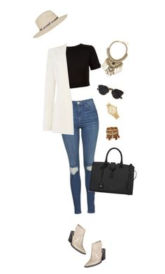 """""""Untitled #109"""" by birdinthethyme ❤ liked on Polyvore featuring Topshop, Ted Baker, Armani Jeans, Circus By Sam Edelman, Leith, Michael Kors, Yves Saint Laurent and Christian Dior"""
