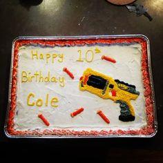 Nerf gun cookie cake