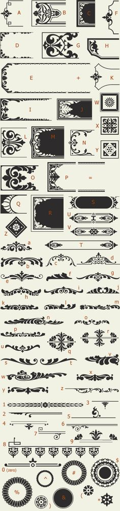 Letterhead Fonts / LHF Saratoga Ornaments / Ornaments and Dingbats NOT FREE