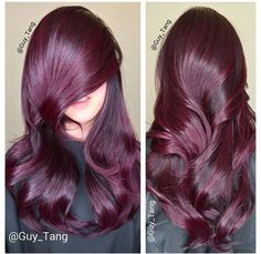 Red hair balayage (by Guy Tang). Hair Color And Cut, New Hair Colors, Love Hair, Gorgeous Hair, Guy Tang, Dream Hair, Purple Hair, Plum Purple, Plum Hair