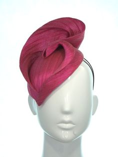 Hot pink paris cloth races hat - Bonnie Evelyn Millinery