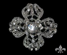 Rhinestone Brooch Pin - Rhinestone Crystal Brooch - Rhinestone Brooch - Enchanting Brooch. $4.00, via Etsy.