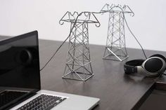 Daniel Ballou's Power Lines Proudly Display Tech Wires #cable #organization trendhunter.com