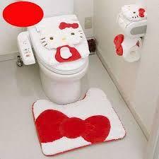 Resultado de imagen para como hacer un juego de baño de kitty paso a paso