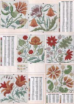 Cross-stitch Floral Biscornu... Gallery.ru / Фото #46 - KWIATY 4 - aaadelayda