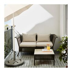 KUNGSHOLMEN Loveseat, outdoor  - IKEA - not my favorite but could be a good size