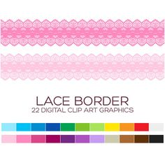 Digital Lace Border Clipart Digital Borders Clip by coloryourway
