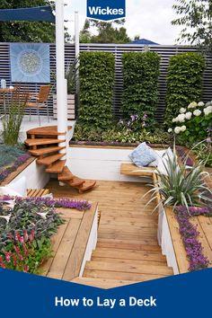 Back Garden Design, Garden Design Plans, Garden Landscape Design, Backyard Patio Designs, Backyard Landscaping, Back Gardens, Outdoor Gardens, Garden Makeover, Garden Projects
