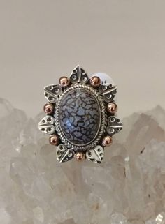 Stingray Coral Ring Size 6 1/2 by KarinsForgottenTreas on Etsy