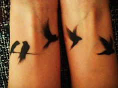 """Bird tattoo I love how """"feathered"""" it looks. Very soft looking."""