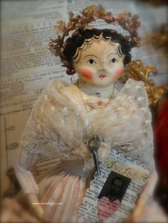 Juliette a beautiful Valentines Doll by Nicol Sayre Doll Shoppe
