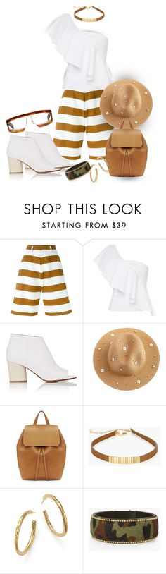"""""""Wear It In Brown and White On A Sunday Afternoon in the Park"""" by onesweetthing ❤ liked on Polyvore featuring FLOW the Label, Maison Margiela, Mansur Gavriel, Chico's, Ippolita, Gucci, gucci, mansurgavriel, chicos and FlowTheLabel"""