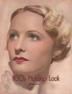 30's makeup: Blushes were more conservatively applied during daytime, with cream rouges becoming popular, followed by powder.