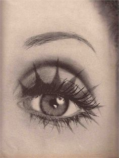 Photo by Richard Avedon for Vogue, August 1968, that's quite the eye makeup