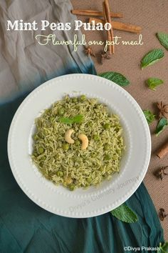 Mint Peas Pulao- Flavorful one pot meal