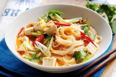 Creamy coconut and vegetable laksa