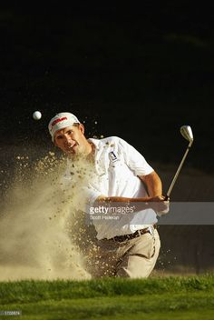 Padraig Harrington of Ireland hits a bunker shot on the hole enroute to a two-shot victory at the Target World Challenge on December 2002 at Sherwood Country Club in Thousand Oaks, California. Padraig Harrington, Bunker, Victorious, Ireland, December, Target, Shots, Challenges, California