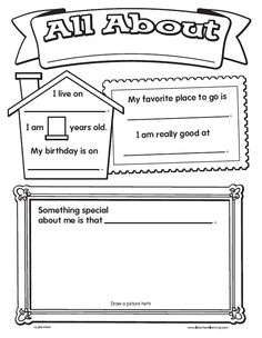 Worksheets About Me Worksheets about me autism and it is on pinterest give your kids an easy first day assignment with lakeshores all worksheet