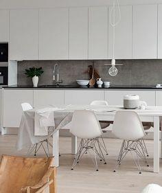 White Kitchen Interior Design With Modern Style 20 Refacing Kitchen Cabinets, White Kitchen Cabinets, Kitchen Cabinet Design, Ikea Kitchen, Refinish Cabinets, Kitchen Dining, Kitchen Board, Cabinet Refacing, White Kitchen Interior