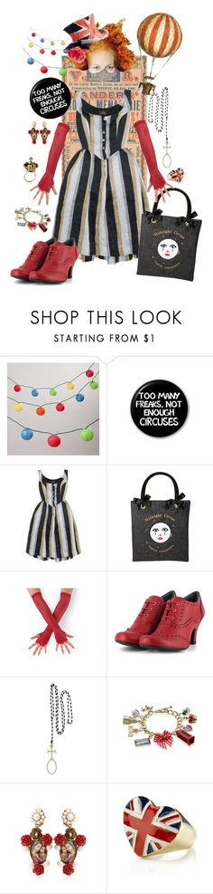 """Circus is coming!"" by wondi ❤ liked on Polyvore featuring Cost Plus World Market, Vivienne Westwood Anglomania, Vivienne Westwood, Tarina Tarantino, Stephen Jones, Vegetarian Shoes, Erica Molinari, Dolce&Gabbana and *Accessories Boutique"