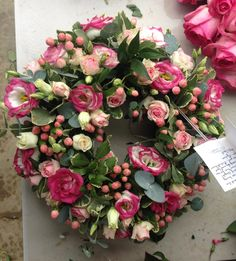 A bright wreath for a special lady. #bishopandpolden
